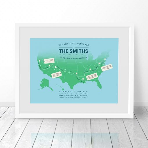 Personalised World Travel Map
