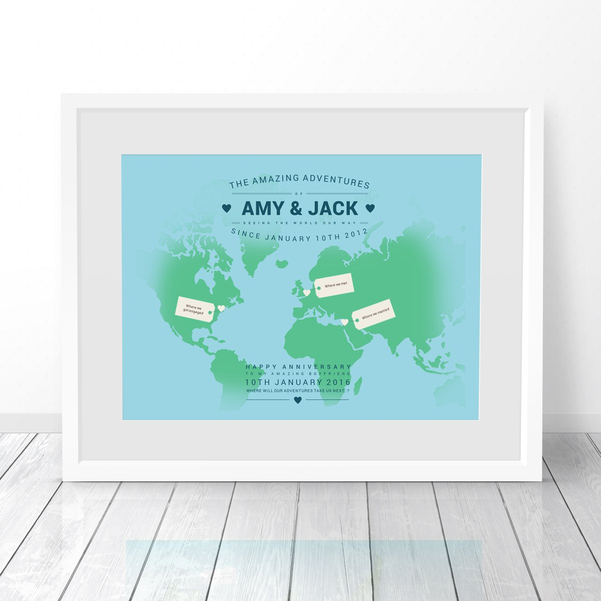 Personalised world travel map no ordinary emporium personalised world travel map gumiabroncs Image collections