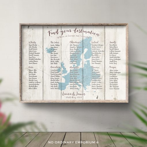 Travel Theme Wedding Table Plan