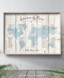 Travel Theme Wedding Table Plan