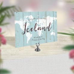 travel theme wedding table card name number