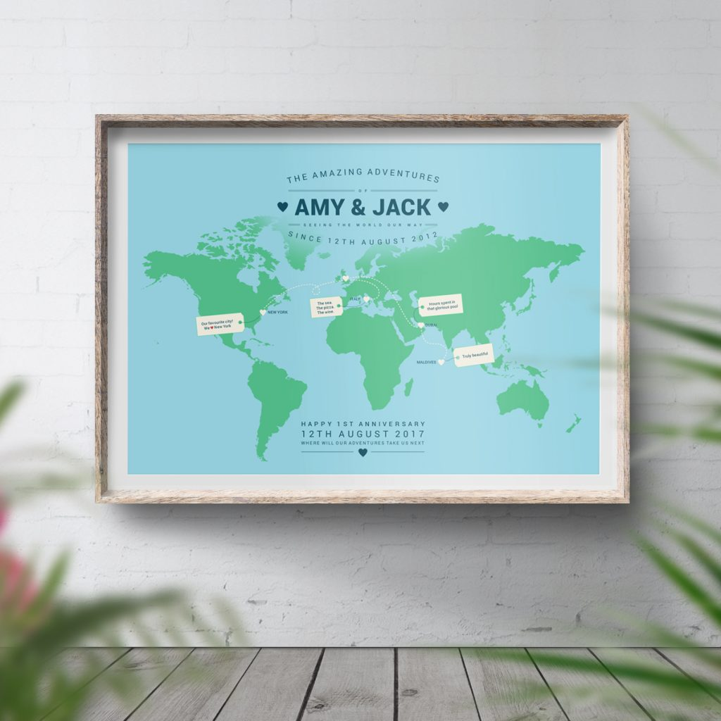 Personalised Travel Map