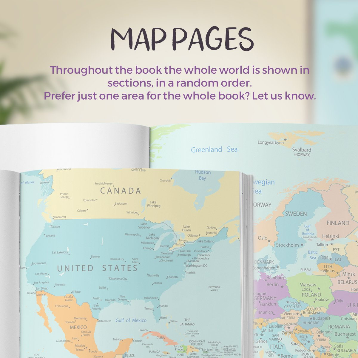 Travel notebook personalised include map pages no ordinary emporium map page examples of the vintage map travel journal gumiabroncs Images