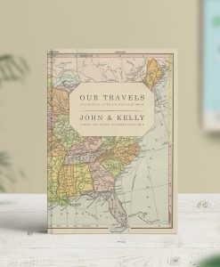 Vintage Map Travel Journal USA Map