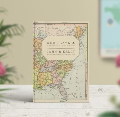 Vintage Map Travel Journal USA Map