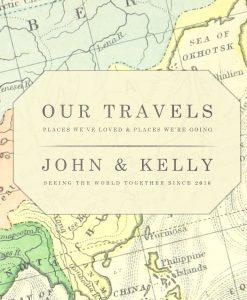 Vintage Map Travel Journal World Map