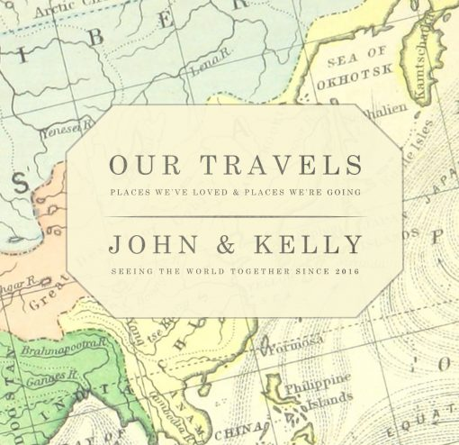 Vintage Map Travel Journal World Map