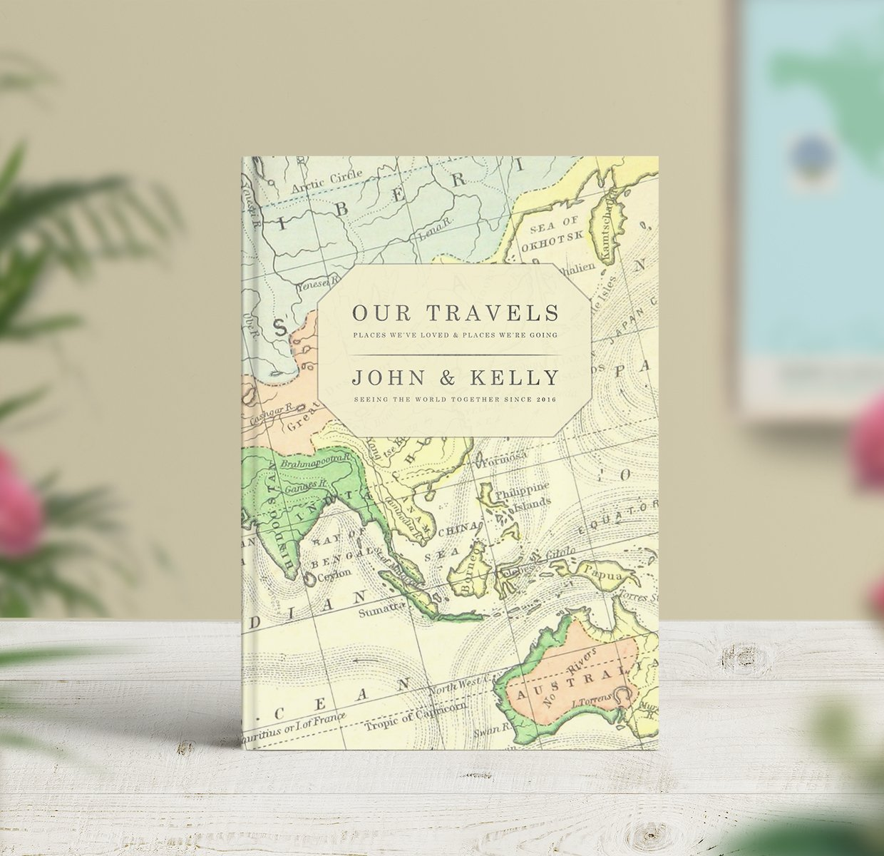 Vintage map travel journal notebook by no ordinary emporium vintage map travel journal world map gumiabroncs Images