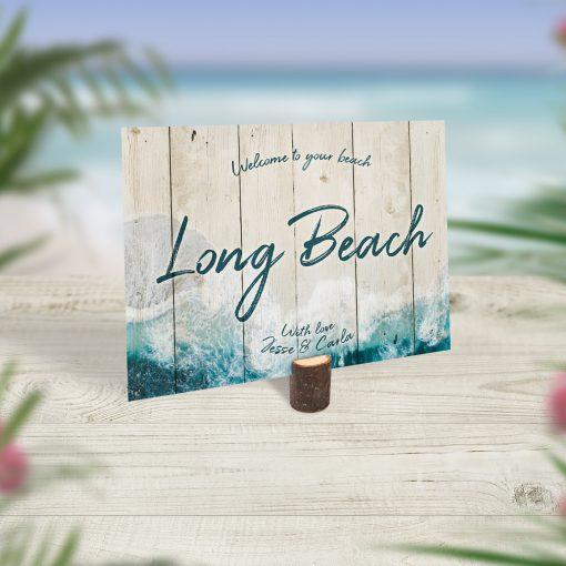 Beach Theme Wedding Table Names
