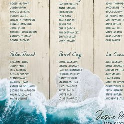 Beach Wedding Table Plan