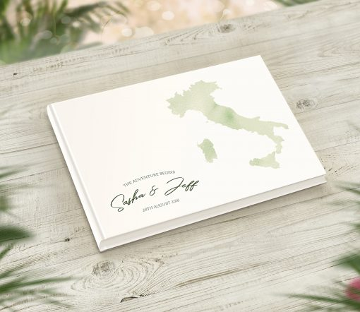 Watercolour Style Guestbook