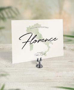Travel Theme Wedding Table Cards