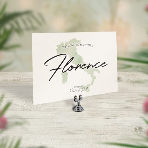 Travel Theme Wedding Table Cards