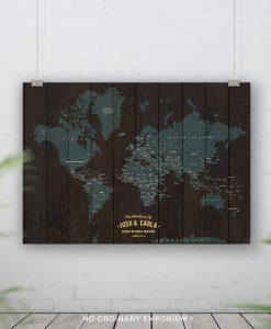 Pin Board Adventure Map