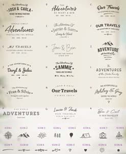 Choose your fonts for our push pin travel map