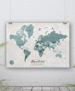 Push Pin Board Travel Maps