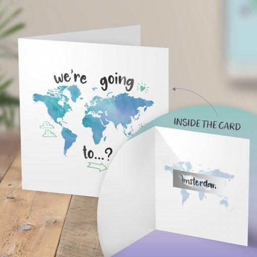 Surprise Amsterdam Trip Card - Scratch Reveal