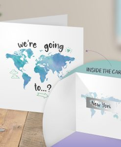Surprise New York Holiday Trip Scratch Reveal Card
