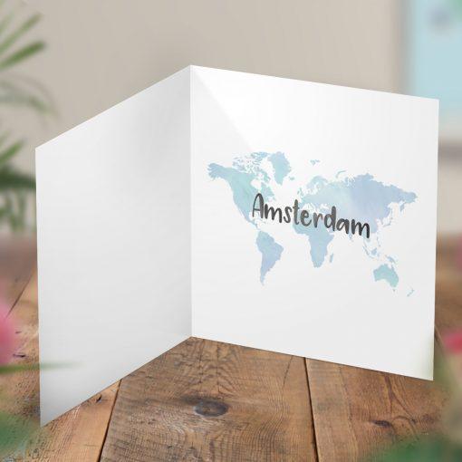 Surprise Amsterdam Trip Reveal Card