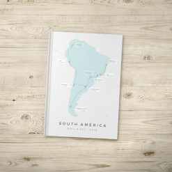 Custom Country South America Travel Journal