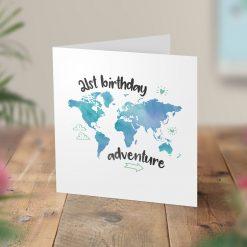 21st Birthday Adventure Surprise Trip Card