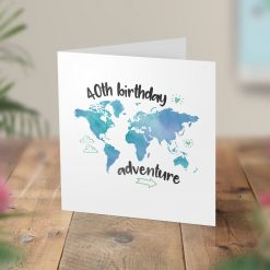40th Birthday Adventure Surprise Trip Card