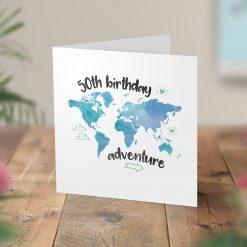50th Birthday Adventure Surprise Trip Card