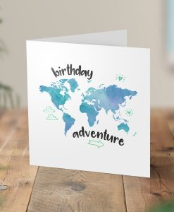 Birthday Adventure Surprise Trip Card
