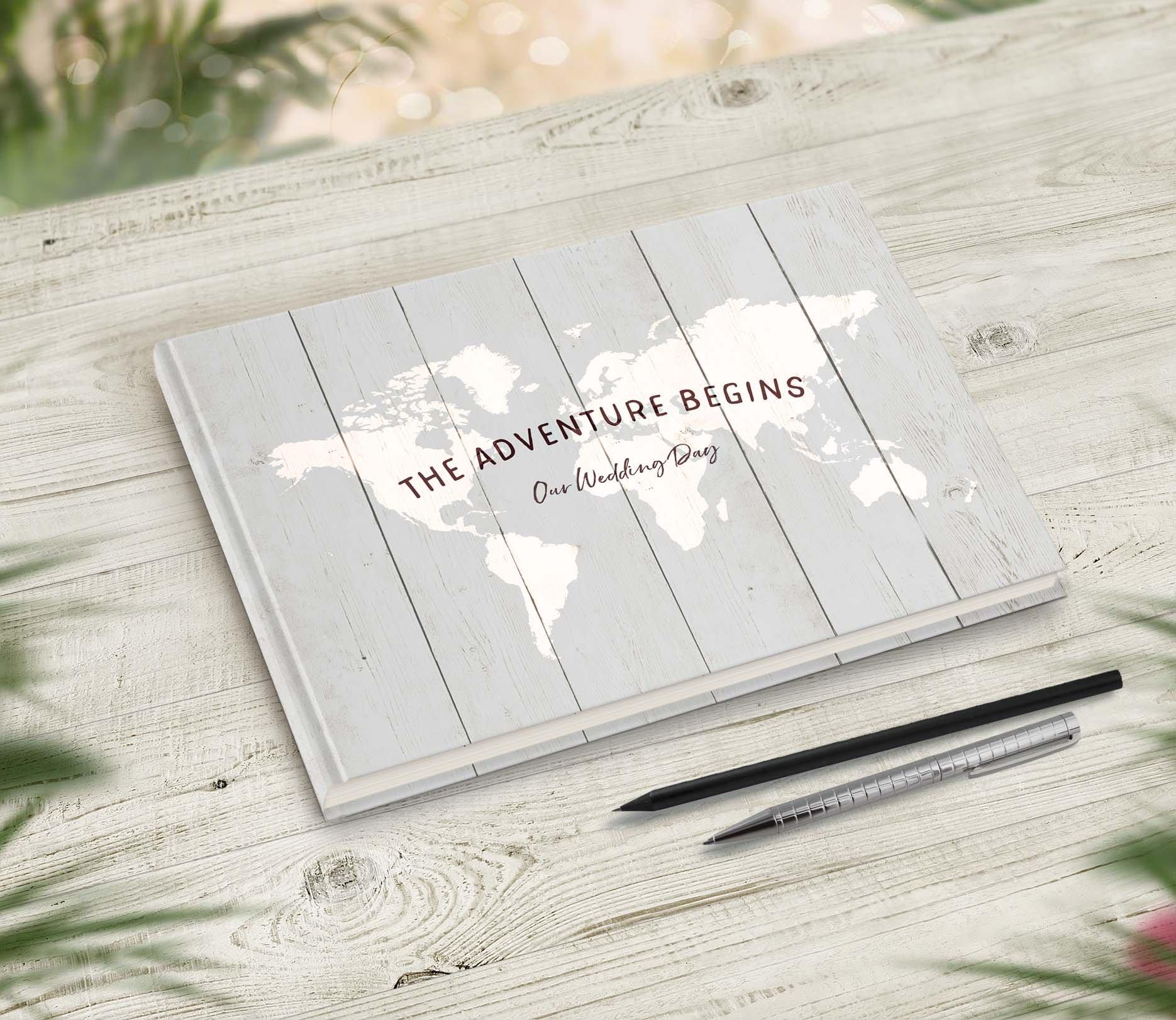 Travel Theme Wedding Guestbook