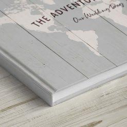 The Adventure Begins Wedding Guestbook Travel Theme Wedding