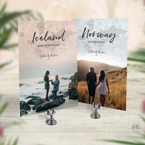 Favourite Locations Photo Table Name Cards