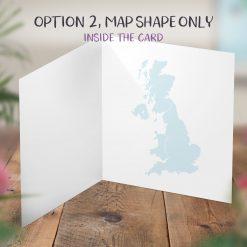 Personalised Map Card Engagement Wedding