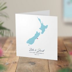 Map Wedding Engagement Cards