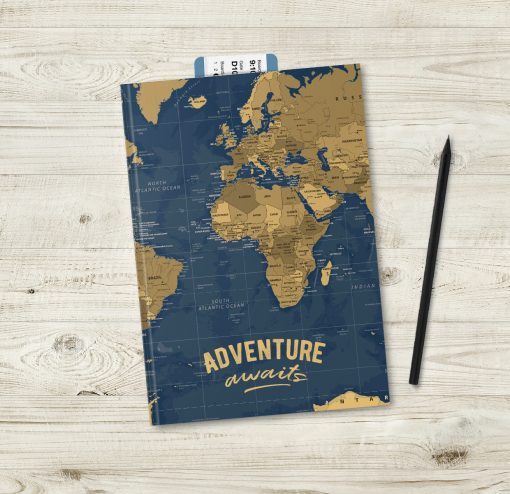 Adventure Awaits Travel Journal With Maps