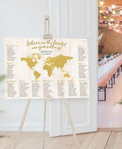 World Map Seating Chart