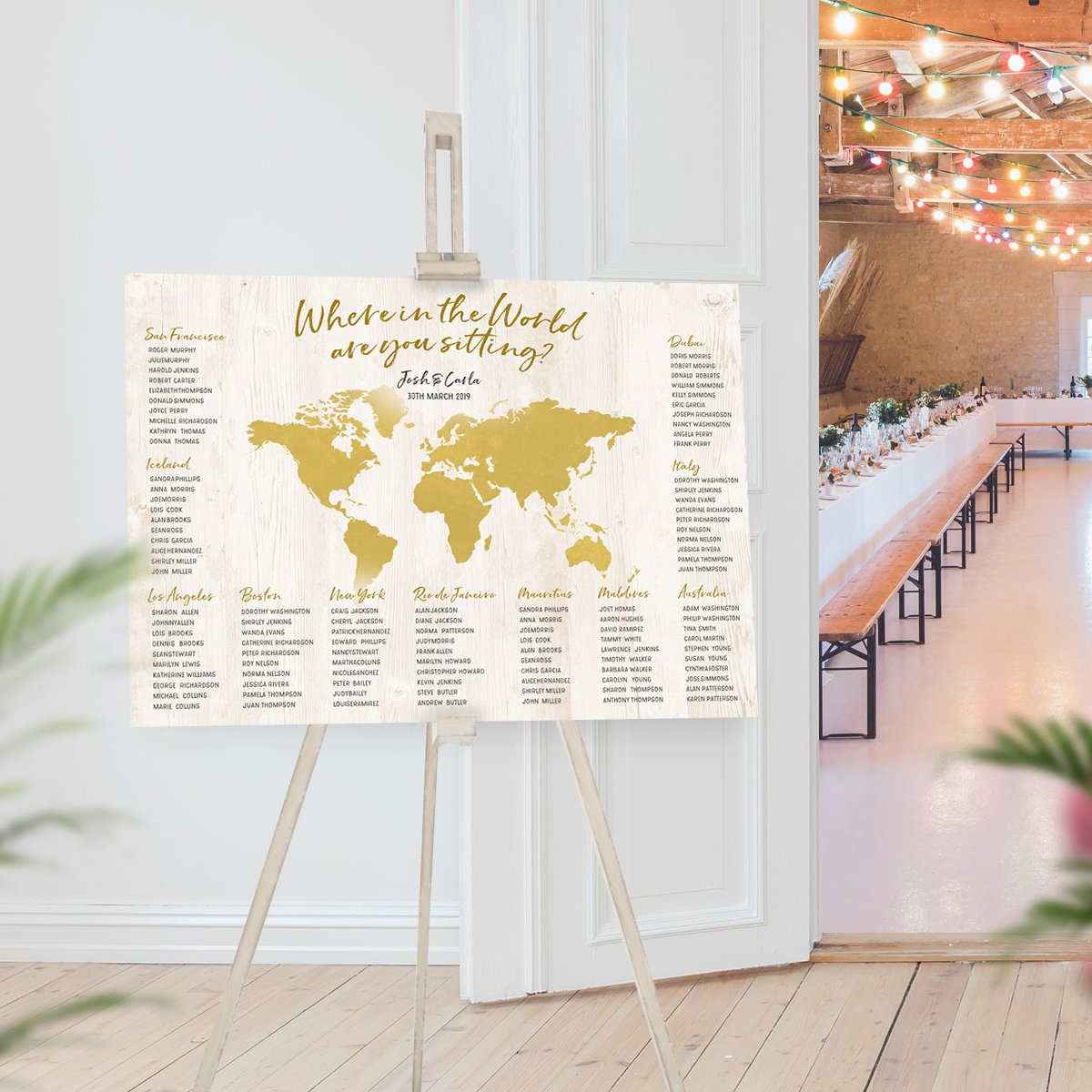 World Map Seating Chart