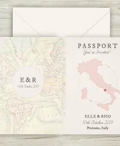 Passport Travel Theme Wedding Invitations