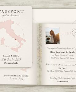 Passport Travel Theme Wedding Invitations