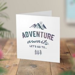 Adventure Awaits Surprise Hiking Trip Card