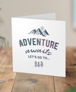 Adventure Awaits Surprise Hiking Trip Card
