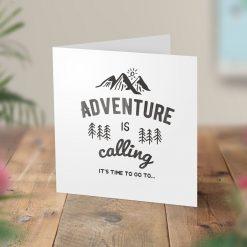 Adventure Calling Surprise Hiking Trip Card