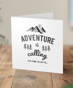 Adventure Calling Surprise Hiking Trip Card