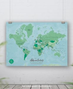 Push Pin Board World Map
