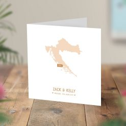 Map Location Engagement Wedding Card