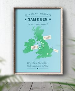 Personalised UK Map