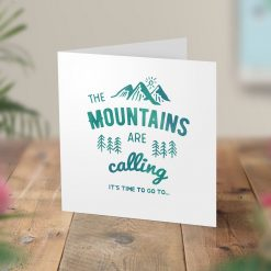Mountains Calling Surprise Hiking Trip Card
