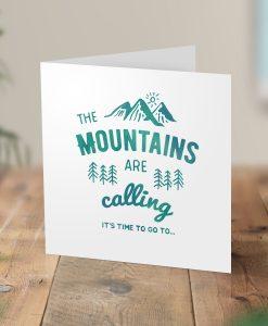Mountains Calling Surprise Hiking Trip Card