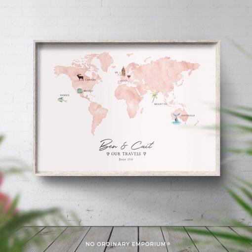 Our Adventures Honeymoon Map