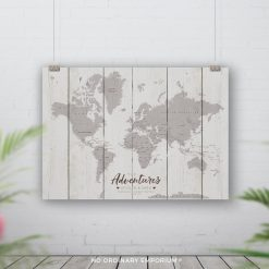 World Map Push Pin Board Personalised Gift