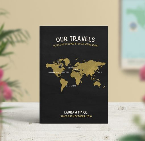 Travel Notebook Personalised – include map pages